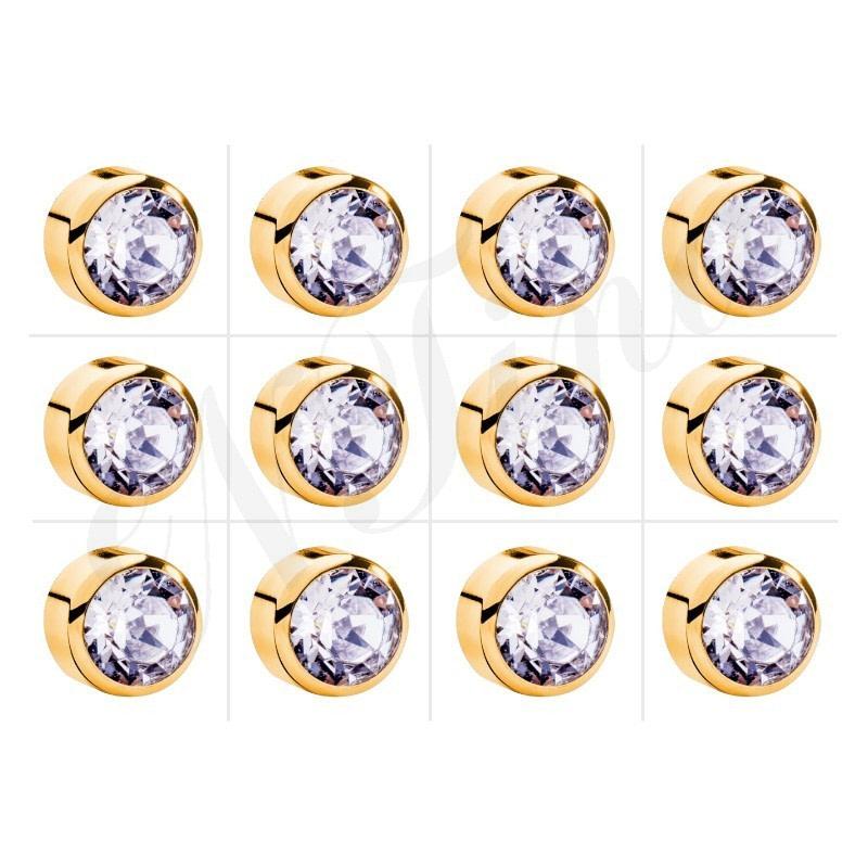 Nina Kulak Delme Küpesi Altın Kaplama - Kristal