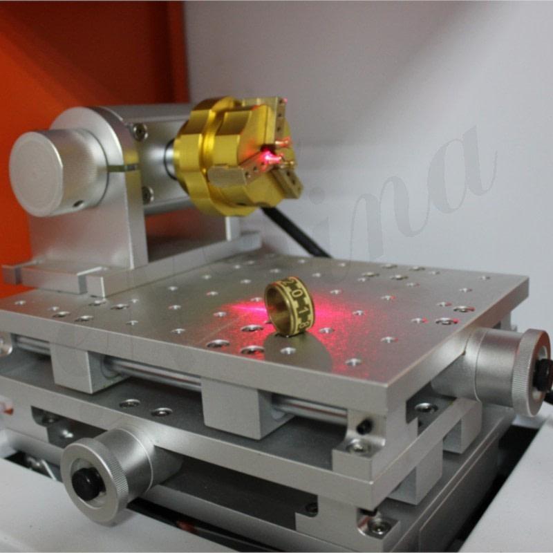 Goldlaser NT-60D Lazer Kesim Markalama ve Yazı Yazma Makinesi yüzük